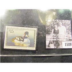 1589 . 1998 RW65 U.S. Department of the Interior Federal Migratory Waterfowl Stamp. Unused, not sign