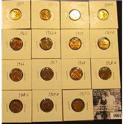 1661 . 1937P, S, 54S, 55S, 63P, D, 64P, D, 66P, 67P, 68P, D, S, 69D, & S Lincoln Cents all grading f