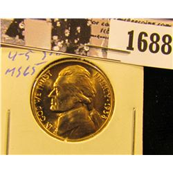 1688 . 1938 D Jefferson Nickel, Superb Gem BU with 4-5 steps.