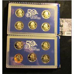 1692 . 2004 S & 2005 S Five-Piece Statehood U.S. Quarter Proof Set. Original as issued. Five-piece S
