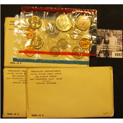 1693 . (3) unopened 1968 Silver U.S. Mint Sets in unopened original envelopes.
