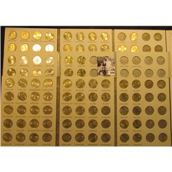 1698 . (3) Partial Sets of U.S. Statehood Quarters in Whitman folders. ($29.25 face value). Most BU.
