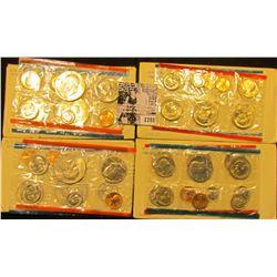 1701 . (2) 1974 & (2) 1980 U.S. Mint Sets in original cellophane and envelopes.