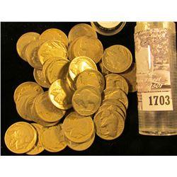 1703 . (40) 1929 Buffalo Nickels, most grade G-VG.