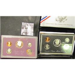 1704 . 1985 S Deep Mirror Cameo U.S. Proof Set & 1996 S U.S. Mint Premier Silver Proof Set. Both ori