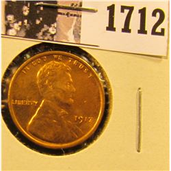 1712 . 1917 P Lincoln Cent, Mostly Red Brilliant Uncirculated.