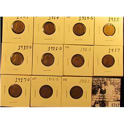 1717 . 1909P F+, 14P VF, 14S VG, 15P VG, D Good, 16D G, S Good, 17P Good, 17D G, 17S VF, & 18S VG Li