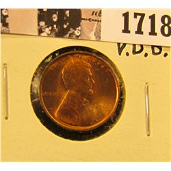 1718 . 1909 P VDB Lincoln Cent, Mostly Red MS65.