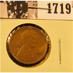 1719 . 1909 S Lincoln Cent, Key-date, Fine.