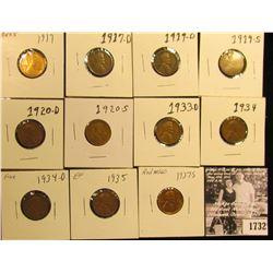 1732 . 1917P AU55, 17D G, 19D G, 19S VG, 20D G, S Good, 33D F, 34P F, D Fine, 35P EF, & 37S MS60 Lin