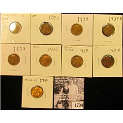 1734 . 1917D G, 19S VF, 34P VF, D Fine, 35P Fine, 37S MS62, 39P AU, D EF, & 40P Gem BU Lincoln Cents