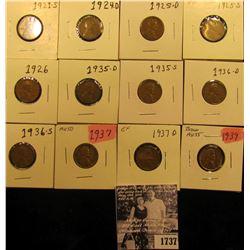 1737 . 1921S Fine, 24D Fine, 25D Good, S VG, 26P VG, 35D Fine, S VG, 36D VG, S Fine, 37P AU, D EF, &