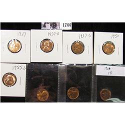 1744 . 1937P, D, S, 50P, 55S, 60P LD, 62P, & 70S Lincoln Cents, all Red BU to Superb Gem BU.
