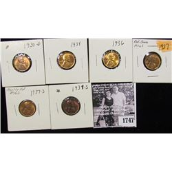 1747 . 1930D, 34P, 36P, 37P, S, & 39S Lincoln Cents grading Uncirculated to Gem BU.
