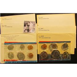 1772 . 1971, 72, 73, 74, 77, 78, & 79 U.S. Mint Sets. All original as issued. (total face value $22.