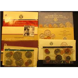 1776 . 1977, 84, 86, 87, 89, 90, & 91 U.S. Mint Sets. All original as issued. (total face value $14.