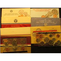 1777 . 1984, 86, 87, 89, 90, 91, & 94 U.S. Mint Sets. All original as issued. (total face value $12.