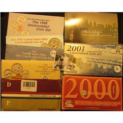 1779 . 1984, 90, 91, 94, 98, 2000, 2001, & 2007 U.S. Mint Sets. All original as issued. (total face