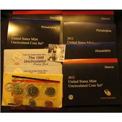1781 . 1990, (2) 1998, 2011, & (2) 2012 U.S. Mint Sets. All original as issued. (Total face value $4