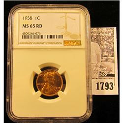 1783 . 1930 P Lincoln Cent, NGC slabbed MS65 RD.