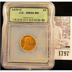 1787 . 1936 S Lincoln Cent NGC slabbed MS65 RD.
