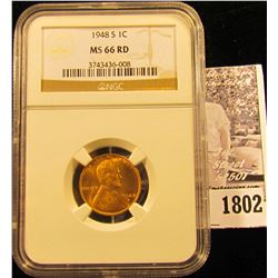 1792 . 1938 P Lincoln Cent NGC slabbed MS65 RD.