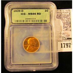 1797 . 1939 D Lincoln Cent ICG slabbed MS66 RD