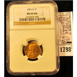 1798 . 1941 D Lincoln Cent NGC slabbed MS66 RD.