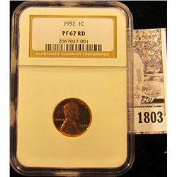 1803 . 1952 P Lincoln Cent NGC slabbed PF67 RD