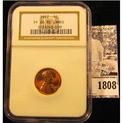 1808 . 1957 P Lincoln Cent NGC slabbed PF 66 RD CAMEO