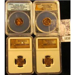 1838 . 2009 SMS Bronze Birth & Childhood MS69 RD; 2009 D SMS Bronze Professional MS67 RD NGC; 2009 D