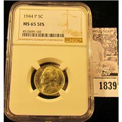 1839 . 1944 P U.S. Silver War Nickel NGC slabbed MS65 5FS