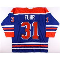 """Grant Fuhr Signed Oilers Jersey Inscribed """"HOF 03"""" (JSA COA)"""