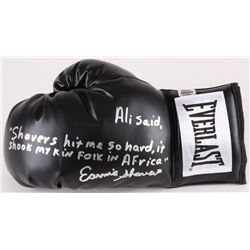 Earnie Shavers Signed Everlast Boxing Glove with Extensive Inscription  (Shavers Hologram)
