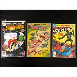 DC & MARVEL COMIC BOOK LOT (SPIDER-WOMAN, LOIS LANE, SUPERMAN)