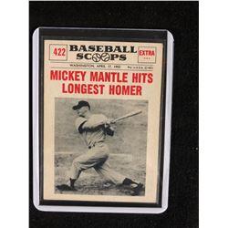 "BASEBALL SCOOPS #422 ""MICKEY MANTLE HITS LONGEST HOMER"""
