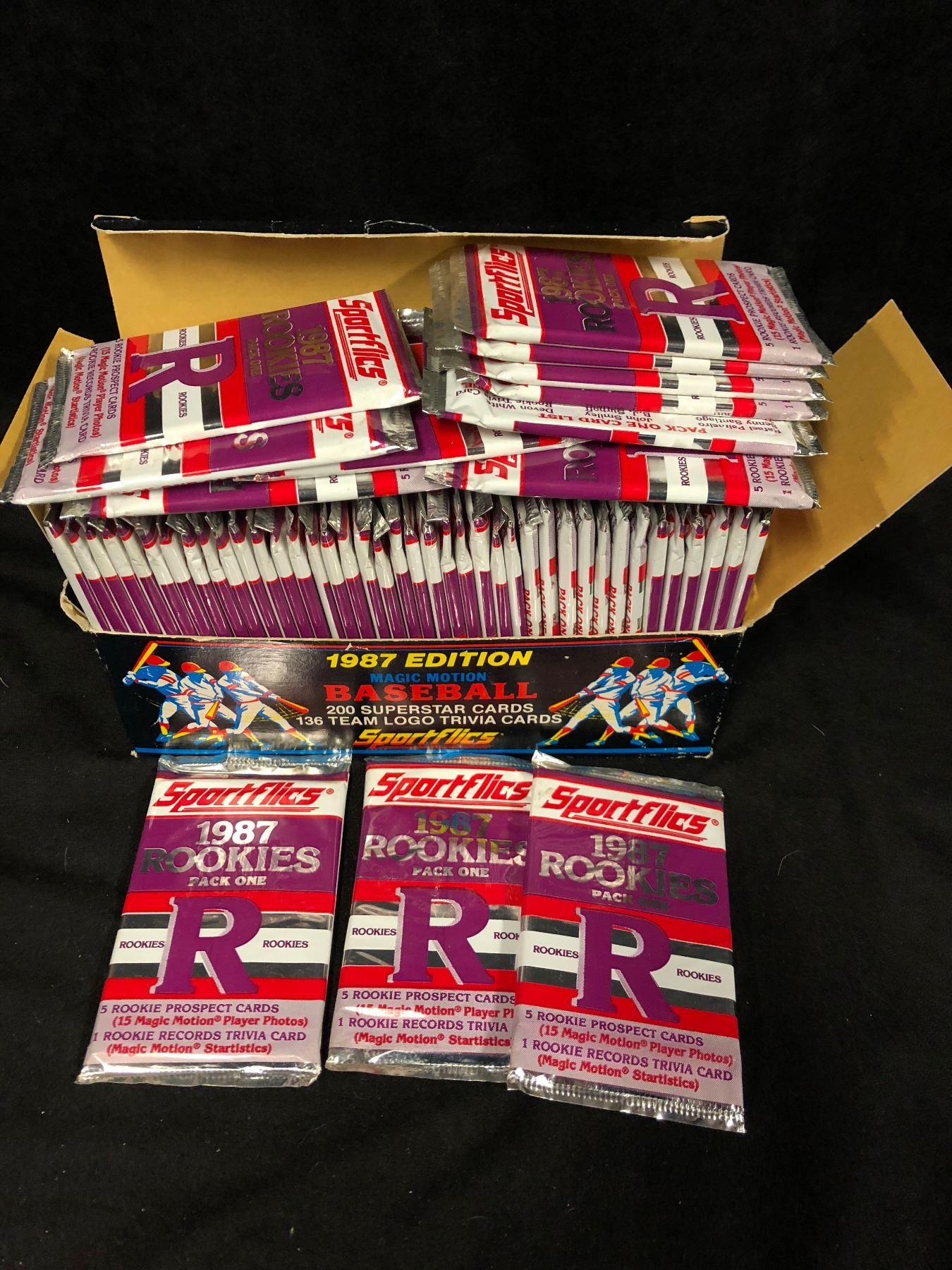 Factory Sealed 1987 Sportflics Baseball Rookie Card Packs