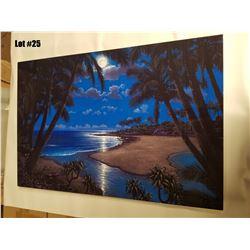 """Moonlight Bay"" by Steven Power, Metal, 36x24, $3130 Value, Ltd. Ed. 7/675"