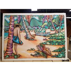 """""""Pass the Day Away"""" by Susan Patricia, Original Painting on Silk, 38x29, $3000 Value"""