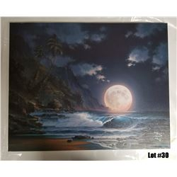 """""""Lunar Spectable"""" by Arozi, A/P on Canvas, 24x30, Ltd. Ed. 5 of 50, $1595 Value"""