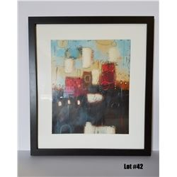 "Framed Art by Milan, Original Paper, $595 Retail, 30-3/4 X 34-3/4, Matted w/ 1-3/4"" Dark Frame"