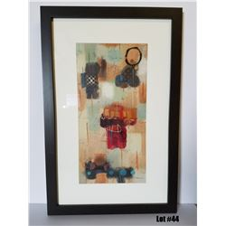 "Framed Art by Milan, Original Paper, $495 Retail, 22-3/4 X 34-3/4, Matted with 1-3/4"" Dark Frame"