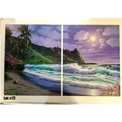 """Bali Hai Moonlight"" by Anthony Casay, 296 of 450, Offset Lithograph, 39.5X26, $250 Retail, Signed a"