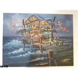 """The Hangover Hut"" by Tom Thordarson, 38 of 50, Paper Giclee, 24X18, Signed and Numbered"