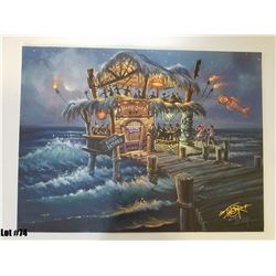 """The Hangover Hut"" by Tom Thordarson, 39 of 50, Paper Giclee, 24X18, Signed and Numbered"