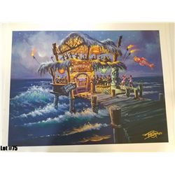 """The Hangover Hut"" by Tom Thordarson, 40 of 50, Paper Giclee, 24X18, Signed and Numbered"