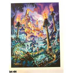 """""""Viva Lava Diva"""" by Tom Thordarson, 34 of 50, Paper Giclee, 24X18, $225 Retail, Signed and numbered."""