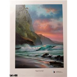 """Napali Evening"" by R. Gonzalez, 163 of 350, Canvas Giclee, 9X12, Signed and numbered."