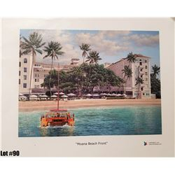 """""""Moana Beach Front"""" by R. Gonzalez, 25 of 350, Canvas Giclee, 12X9, $150 Retail, Signed and numbered"""