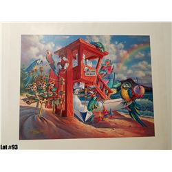 """Any Flavor Shave Ice"" by Tom Thordarson, 36 of 250, Canvas Giclee, 24X19, $395 Retail, Signed and n"